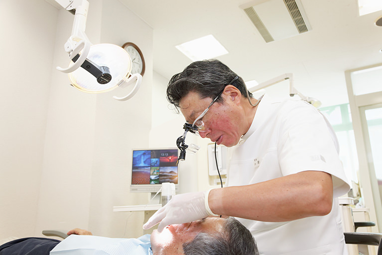 なるべく削らず、歯を残す治療を大事にしています